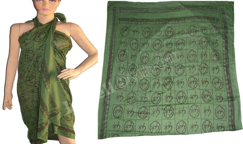 Om Printed Sarong Beachwear Pareos Buy Viscose Sarong