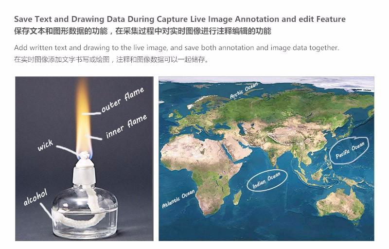 Vente chaude HD portable document scanner Visualiseur de Document