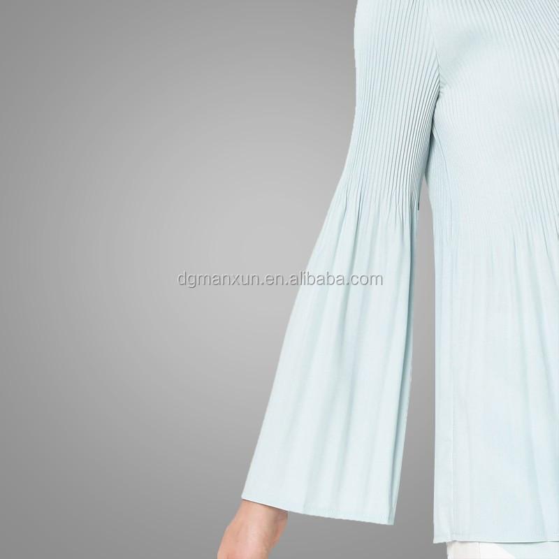 New fashion style muslim baju kurung printing islamic clothing flare sleeves top in malaysia4.jpg